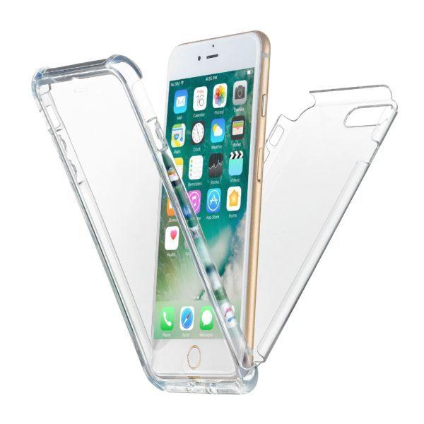 Transparent skal iPhone 8 Plus fram och bak