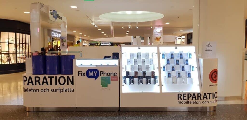Laga iPhone mobiltelefon på Frölunda Torg. snabbaste lagning