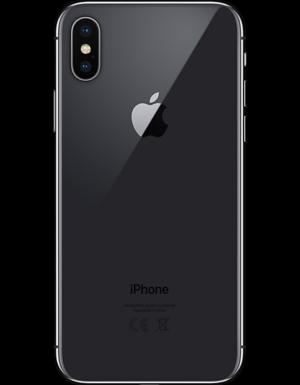 iPhone X Baksida Space gray