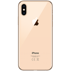 iPhone XS Baksida Gold