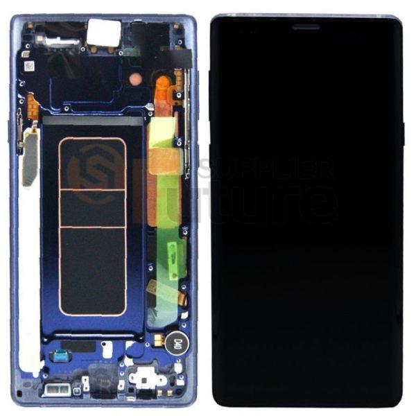 Samsung galaxy Note 9 Skärm blå