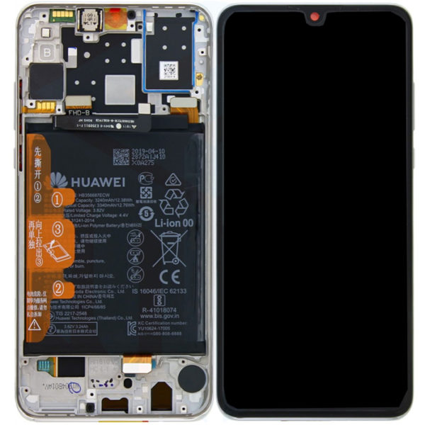 Huawei p30 skärm vit