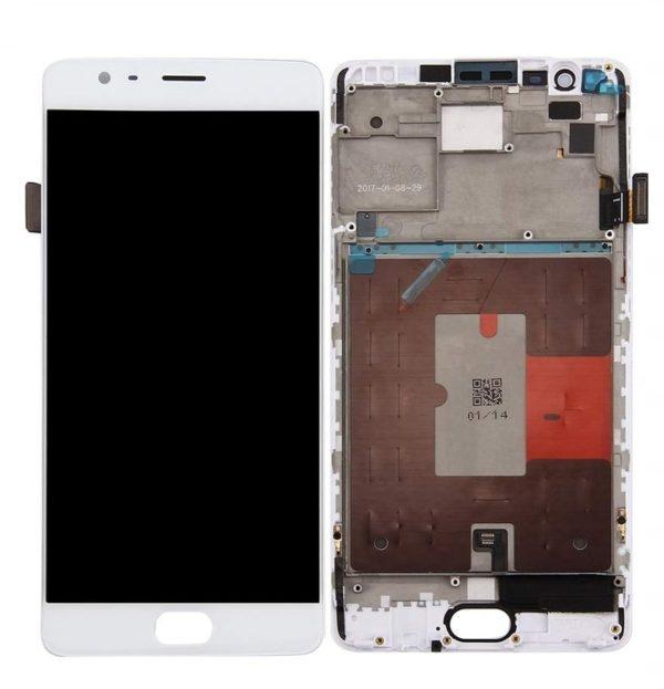 OnePlus 3T skärm vit