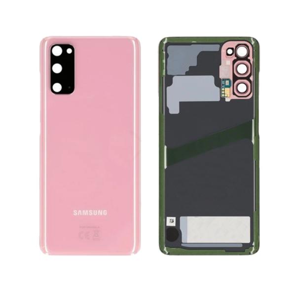 Samsung Galaxy S20 baksida rosa